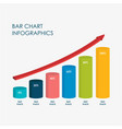 Bar chart infographics elements 3d flat design