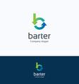 Barter B letter logo vector image vector image