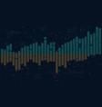 business data columns bar chart slide analysis of vector image vector image