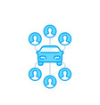 carsharing icon on white carpooling service vector image vector image