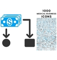 Cashflow Icon with 1000 Medical Business Icons vector image vector image