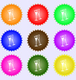 champagne glass icon sign Big set of colorful vector image vector image