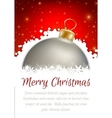 Christmas ball poster card vector image vector image