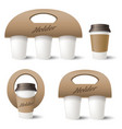 coffee cup holder vector image vector image