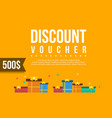 collection gift voucher flat design vector image vector image