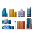 Colorful Modern Buildings Set vector image vector image