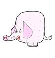 comic cartoon pink elephant vector image vector image