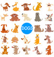 comic dog characters large set vector image vector image