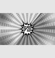 comic versus gray horizontal background vector image vector image