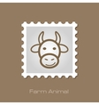 Cow stamp Animal head vector image vector image