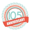 Cute Template 105 Years Anniversary with Balloons vector image vector image