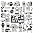 devicesfuturerobots toys - doodles vector image vector image