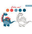 dinosaur coloring vector image vector image