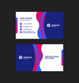 double-sided horizontal business card template vector image vector image