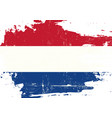 dutch scratched flag vector image vector image