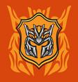 emblem iron knight vector image vector image