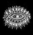 eye hand drawn mystical vector image vector image
