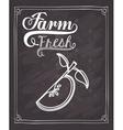 farm fresh food design vector image