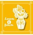 Flower vase design vector image