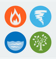 four elements - icons set 1 vector image vector image