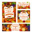 friendsgiving potluck thanksgiving dinner party vector image vector image