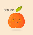 funny happy peach character design vector image vector image