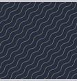 geometric seamless diagonal wavy pattern vector image vector image