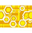 geometric texture hexagons vector image vector image