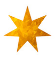 gold triangle star vector image vector image