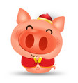 happy chinese new year 2019pig cartoon isolated vector image vector image