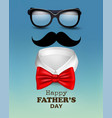 happy holiday fathers day background with red bow vector image vector image