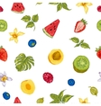 Healthy Food Eco Seamless Background vector image vector image
