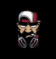 hiphop mascot vector image