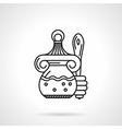 Honey jar black line icon vector image vector image