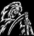 horror grim reaper character vector image
