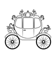 Horse carriage object icon vector image