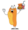 Hot Dog Mascot Cartoon Character