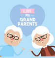 i love my grandparents celebration design vector image