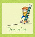 Idiom draw the line vector image vector image
