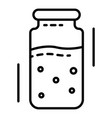 injection ampoule icon outline style vector image vector image