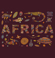 inscription africa in ethnic style and vector image
