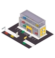 isometric building icon vector image vector image