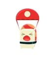 Kamikaze Funny Maki Sushi Character vector image vector image