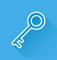 key icon in flat style isolated on blue vector image vector image
