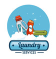 laundry logo emblem badge vector image