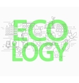 Line style concept of ecology vector image