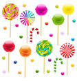 lollypop big set vector image