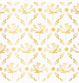 luxe gold foil floral lattice seamless vector image vector image