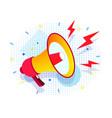 megaphone bullhorn loadspeaker realistic style vector image
