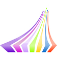 Multicolored arrows background vector image vector image